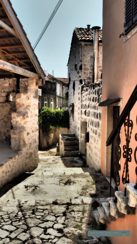 croatia cobbled street