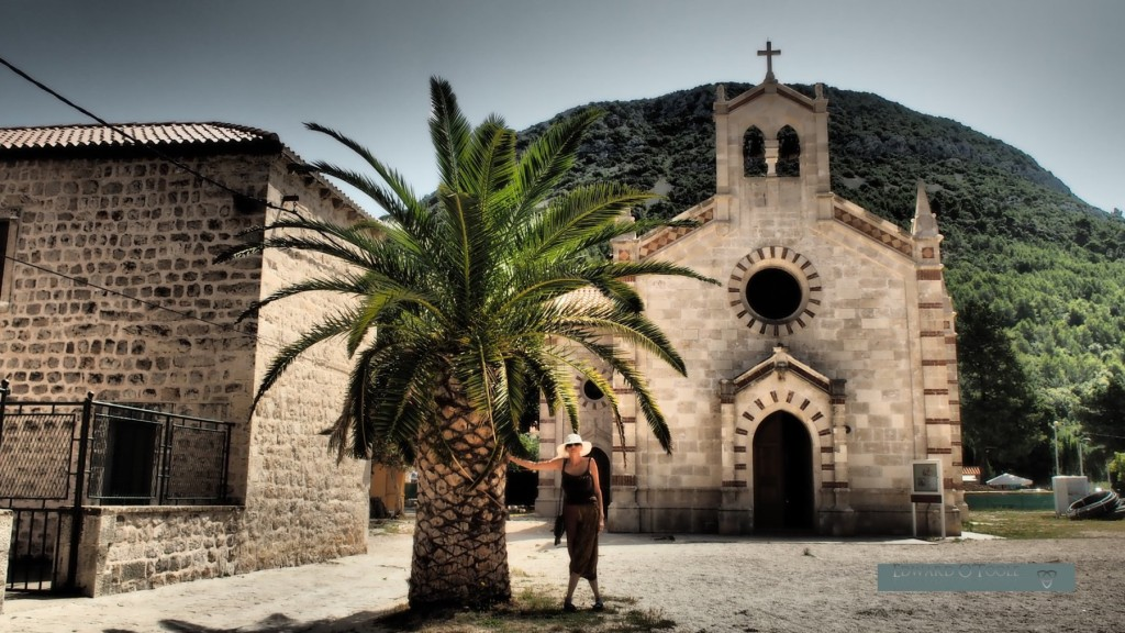 ston church croatia palm tree
