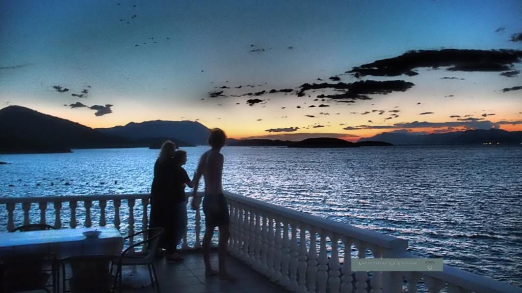 croatia terrace sunset